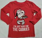 I'm Just Here For The Cookies Snoopy Peanuts Christmas Boys T-Shirt