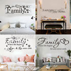 Multi-style Art Quote Wall Sticker Home Room Decor Vinyl Art Removable Mural Diy