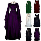 Womens Victorian Cosplay Medieval Fancy Dress Halloween Gothic Witch Costume