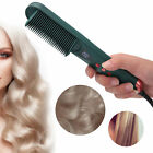 Electric LCD Hair Straightening Comb 2 In 1 Negative Ion Adjustable Curing Dual