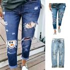 Womens Stretchy Faded Ripped Slim Fit Skinny Jeggings Trousers Ladies Pants