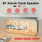 'Poratable Led Mirror Digital Alarm Clock Wireless Bluetooth Speaker Mp3 Fm Radio