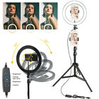 LED Selfie Ring Light with Tripod Stand Cell Phone Holder For Makeup Live Stream