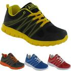 BOYS BLACK SCHOOL SHOES KIDS GIRLS RUNNING GYM BOOTS SPORTS TRAINERS SIZE 13 - 6