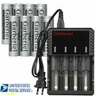 Flat Top 18650 3.7V Li-ion Battery Rechargeable Batteries For LED Flashlight USA