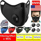 Washable Face Mask Purifying + Carbon Filters Mouth-muffle Purify Haze Anti-fog