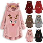Women Button Coat Christmas embroidery Pullover Sweater Blouse Plus Size Blouse