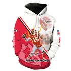 KC Chiefs NO.15 printed Pullover Pocket long sleeve Unsex CASUAL Hoodie S-3XL
