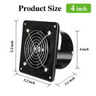"""4/6/8"""" 110V Exhaust Fan Ventilation Extractor Fan Wall-Mounted Square Blower"""