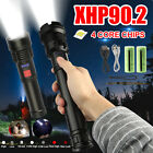 XHP90LED Flashlight Zoom Torch Light USB Rechargeable Super Bright Tactical Lamp