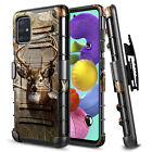 For Samsung Galaxy A51 5G Case, Armor Belt Clip Holster Phone Cover + Kickstand