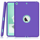 For iPad 5th 6th 7th 8th Gen Mini 5 Pro 10.5 Rubber Shockproof Hybrid Case Cover