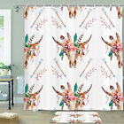 Mysterious Sheep Head Shower Curtain Bathroom Decor Fabric 12hooks 71in
