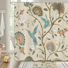 Hummingbird And Spring Flower Shower Curtain Bathroom Decor Fabric 12hooks 71in