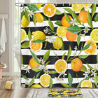 Lemon And Orange Shower Curtain Bathroom Decor Fabric 12hooks 71in