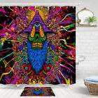 Psychedelic One-eyed Monster Shower Curtain Bathroom Decor Fabric 12hooks 71in