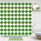 Green Clover Wall Shower Curtain Bathroom Decor Fabric 12hooks 71in