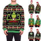 Mens Ladies Couple Matching * ▪ Grinch Jumper Sweater Pullover Top L