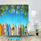 Summer Color Surfboard Shower Curtain Bathroom Decor Fabric 12hooks 71in