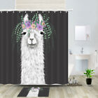 Garland Alpaca Shower Curtain Bathroom Decor Fabric 12hooks 71in