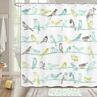 Bird On Wire Shower Curtain Bathroom Decor Fabric 12hooks 71in