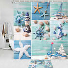 Lighthouse, Anchor, Starfish Shower Curtain Bathroom Decor Fabric 12hooks 71in