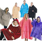 Men women Hoodie Blanket Oversized Sherpa Giant Big Hooded Sweatshirt Warmth#9&