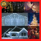 Waterproof Outdoor Christmas 5M Light LED Curtain Icicle String Drop 0.4-0.6m