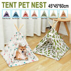Portable Pet Teepee Tent Foldable Cat Bed Dog Puppy House Washable       1