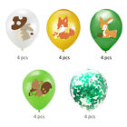 20pcs Fox Printing Latex Balloons Set Confetti Balloons Set Kids Birthday