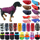 Puppy Pets Dogs Padded Vest Puffer Jacket Winter Warmer Coats Clothes Outwear