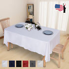 Rectangular Polyester Fabric Tablecloth Wedding Banquet (More Sizes/Colors)