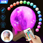 LED Magical Space Moon Night Light USB Table Desk 3D Lamp Home Decor With Remote