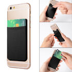 Silicone Credit Card Holder Cell Phone Wallet Pocket Sticker Adhesive for iphone