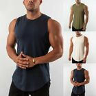 Mens Casual Gym Fitness T-shirt Workout Vest Singlet Muscle Tank Top Basic Tee