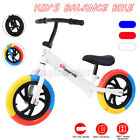 Kids Balance Bike Walker No Pedal Childs Training Bicycle Toy Adjustable Se