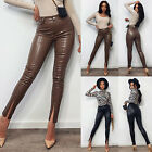 Ladies Womens Wet Look PU Leather High Waist Leggings Stretch Pant PVC Trousers