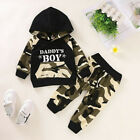 Newborn Baby Boy's Hooded Tops T Shirt Long Pants Outfits Clothes Set Tracksuit