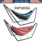 Portable Outdoor Garden Hammock Bed With Heavy Duty Stand Frame Swing Camping