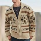 .Mens Chunky Cable Knitted Sweater Zipper Cardigan Coat Jumper Knitwear Outwear.