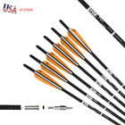 12PK Crossbow Bolts 16/17/20'' Carbon Arrows with Moon Nock and Removable Tips