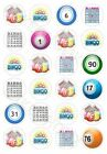 Bingo Themed 24 x Edible Cup Cake Cupcake Toppers For Celebrations