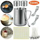 Candle Making Kit DIY Candles Craft Tool Set Pouring Pot Wicks Wax Set w/Sticker