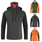 Mens Casual Mouth Cover Hooded Sweatshirt Jumper Pullover Sweater Jumper Blouse