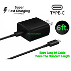 45w USB-C Super Fast Wall Charger+6ft Cable For Samsung Galaxy Note 10+5G+Lite