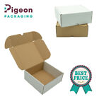 SHIPPING CARDBOARD BOXES POSTAL ROYAL MAILING SMALL PARCEL WHITE&BROWN 6x6x2.5