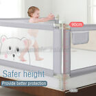 59/71/79'' Baby Infant Bed Rail Fence Adjustable Guardrail Toddler Safety Gate #
