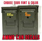 Ammo Can Decals / Stickers / Labels - Pick 6