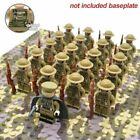 US STOCK - 21pcs WW2 Military Soldiers US Army + Weapon for Lego Minifigures