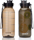 Bottled Joy 32Oz Water Bottle, Bpa Free Water Bottle With Motivational Time Mark
